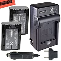 Sony CyberShot DSC-HX1 DSC-HX100V DSC-HX200V HDR-TG5V Digital Camera Battery And Charger Kit Includes Qty 2 NP-FH50 Batteries + Battery Charger + Micro Fiber Cleaning Cloth