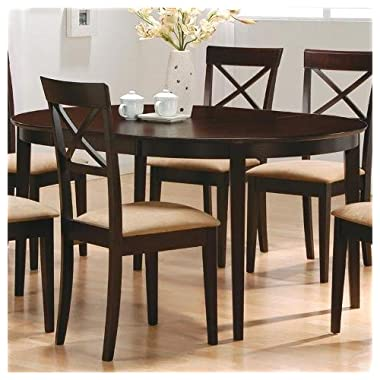 7 pc Dark Cappuccino finish dining room table set with solid hard woods and veneers