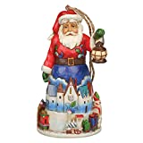 Jim Shore for Enesco Heartwood Creek Santa with Train Ornament, 4.5-Inch