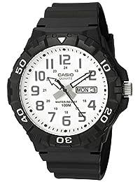 Casio Men's 'Diver Style' Quartz Resin Casual Watch, Color: Black (Model: MRW210H-7AV)