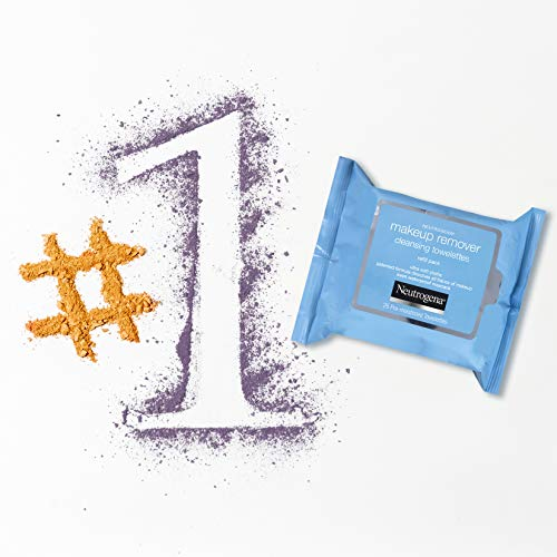 Neutrogena Makeup Remover Cleansing Towelettes, Daily Face Wipes to Remove Dirt, Oil, Makeup & Waterproof Mascara, 25 ct., 7 oz