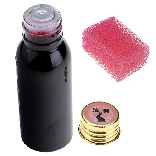 CCbeauty Fake Blood Halloween Vampire Special Effect Makeup Blood + Stipple Sponge (Latex Special Effects)