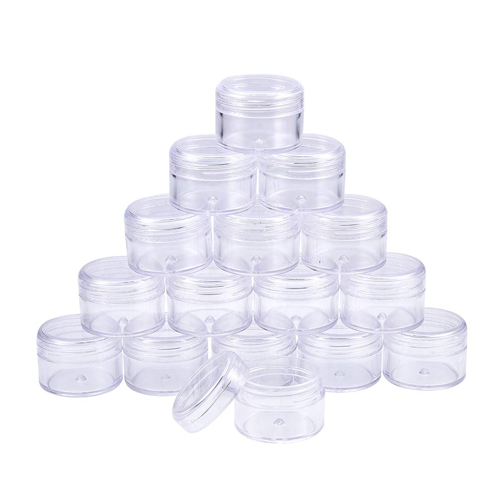 BENECREAT 12 Pack 3.5x2.4 Rectangle Mini Clear Plastic Bead Storage Containers Box Case with lid for Items,Pills,Herbs,Tiny Bead,Jewerlry Findings, and Other Small Items CON-BC0003-11-US