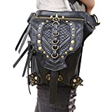 Search : Steampunk Waist Bag Gothic Leather Cross Body Bags Victorian Rivet Leg Thigh Holster Bags