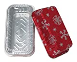 Durable Packaging Holiday Aluminum Loaf Pan with Plastic Dome Lid (Pack of 100)