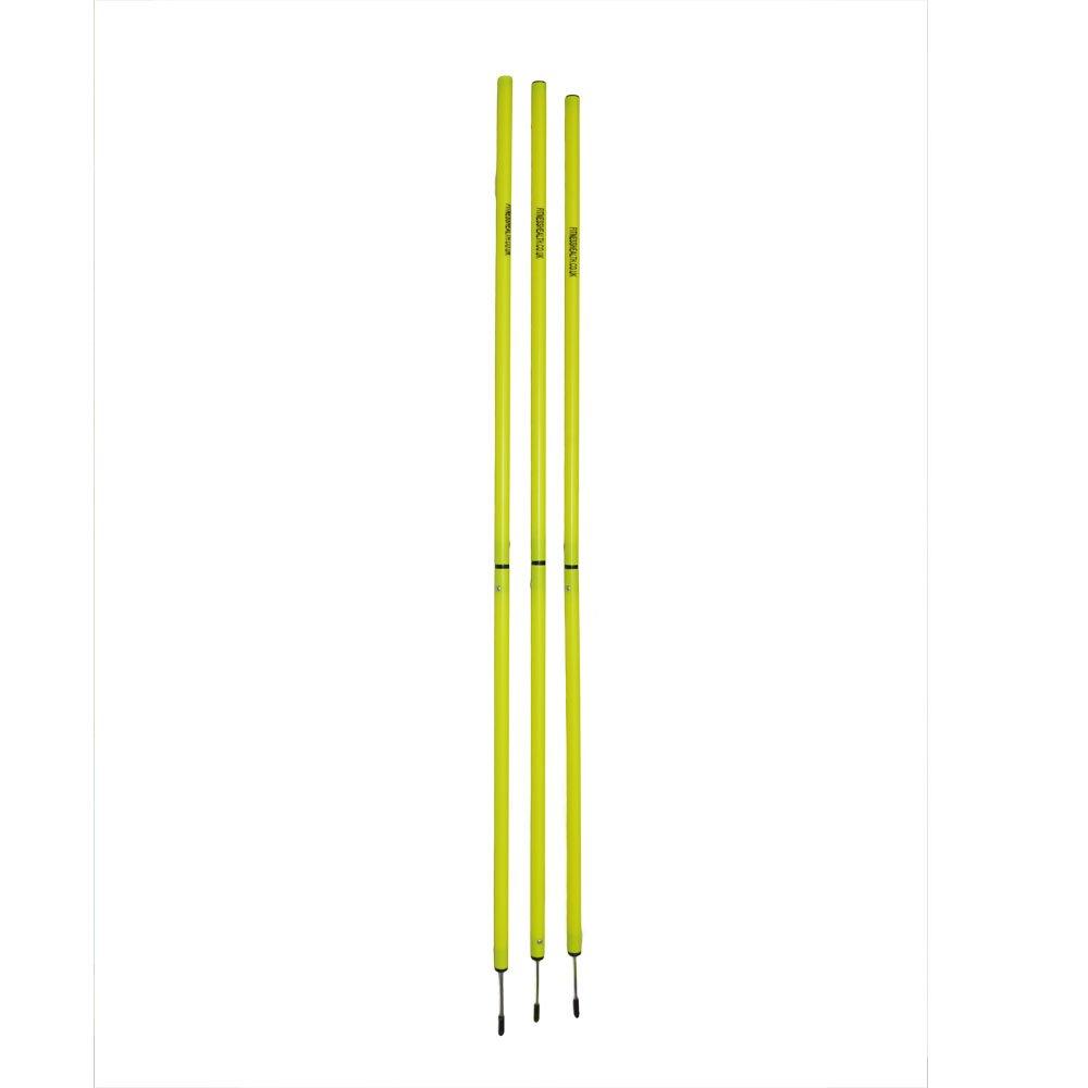 Pali da slalom per allenamento velocità, 1,5m, set di 3paletti per prove di agilità, allenamentomulti-sport (calcio, Rugby, hockey e sci) 5m Fitnesshealth Ltd FH-Pro-Slalom-Pole-3-set