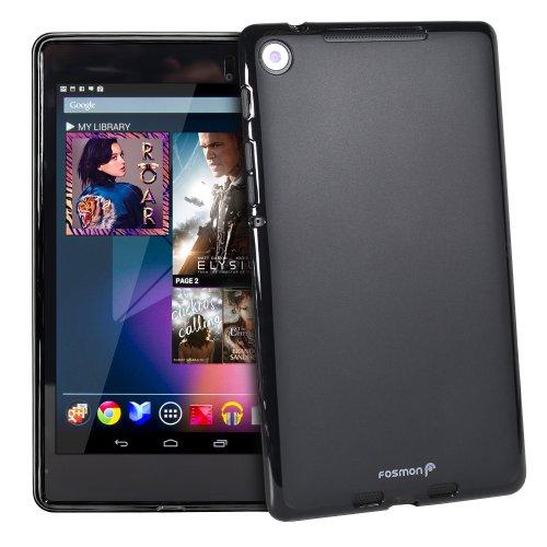 Google Nexus 7 2013 Case - Fosmon DURA Frost Slim Flexible TPU Cover for Nexus 7 FHD 2013 Tablet (Black)