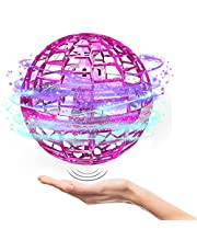 Flying Ball Toys Outdoor Cool Drones for Kids Hover Drones Flying Toy, Built-in RGB Lights Spinner 360° Rotating Spinning UFO Safe for Kids Adults Magic Flying Toys Outdoor Indoor