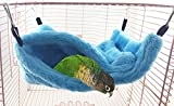 Voberry Warm Hamster Parrot Bed Pet Hammock For Pet Rest House Soft And Comfortable (M, Blue)