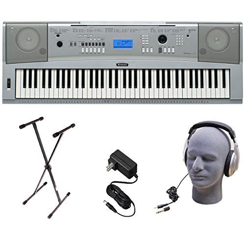 Yamaha DGX230 76-Key Digital Piano Pack with Stand, Power Su