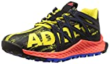 adidas Performance Boys' Vigor Bounce j Trail Runner, Bright Yellow/Black/Satellite, 7 M US Big Kid