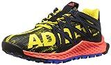 adidas Performance Boys' Vigor Bounce j Trail Runner, Bright Yellow/Black/Satellite, 7 M US Big Kid