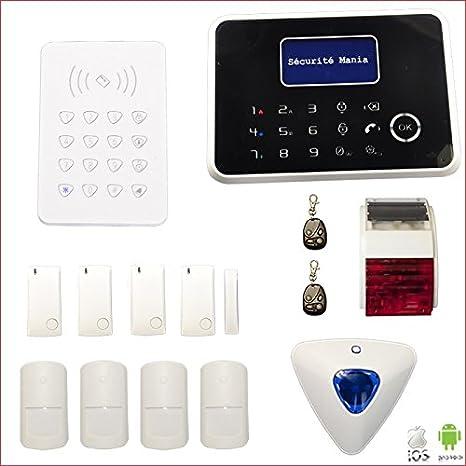 G6 de seguridad Mania-Alarma inalámbrica GSM y RTC con ...