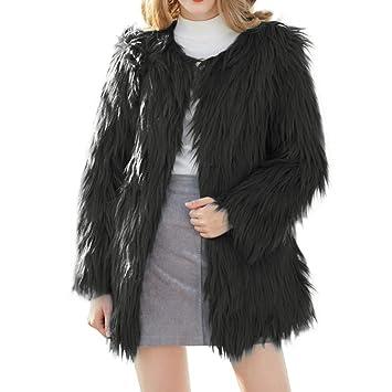 Mujer y Niña Abrigo Invierno fashion fiesta,Sonnena ❤ Abrigo esponjoso de mujer Cárdigan