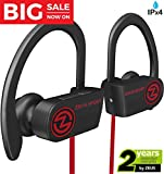 Wireless Bluetooth Headphones Zeus IMPROVED 2018 Best Sport Headphones - Wireless Earbuds w/ Mic Noise Cancelling - Running Headphones - Workout Headphones Earphones - Sports Earbuds for Women for Men