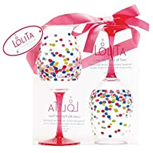CRG QWG-12714 Lolita Acrylic Wine Drinkware Set, Multicolored