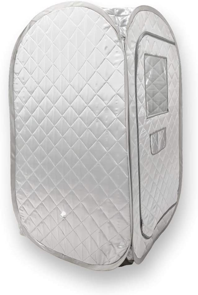 Portable Sauna Tent, Foldable One Person Full Body Spa for Weight Loss Detox Therapy Without Steamer - Grey