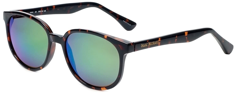 a319a79460feb Amazon.com  Isaac Mizrahi Designer Sunglasses IM44-20 in Dark Tortoise with  Green Mirror Lenses  Clothing
