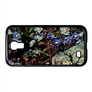 Small Blue Flowers Watercolor style Cover Samsung Galaxy S4 I9500 Case (Flowers Watercolor style Cover Samsung Galaxy S4 I9500 Case)