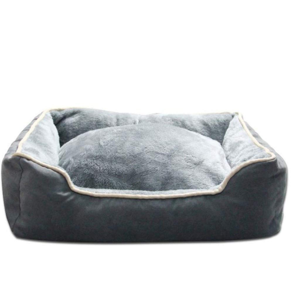 Grey Medium Grey Medium Dog Bed Pet Nest Pad Thick Warm And Bite-resistant Cat Supplies Four Seasons Universal Non Slip Cushion Pad (color   Grey, Size   Medium)