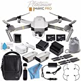 DJI Mavic Pro Platinum Fly More Combo CP.PT.00000069.01 + DJI Goggles FPV Headset CP.PT.000672 + DJI Goggles Sleeve CP.PT.000878 + Deluxe Cleaning Kit + Memory Card Wallet + 64GB microSDXC Bundle