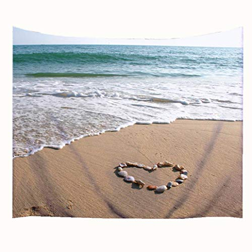 Goodbath Ocean Tapestry, Sea Coastal Waves Tapestries Wall Hanging for Living Room Bedroom Dorm, 80