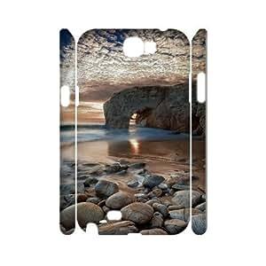 Samsung Galaxy Note 2 N7100 Landscape 3D Art Print Design Phone Back Case DIY Hard Shell Protection FG077009