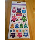 Epoxy Stickers Owls / Autocollants en époxy Hiboux