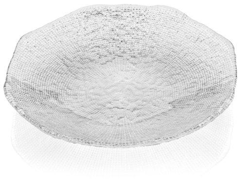 (IVV Glassware Diamante Centerpiece Bowl, 16-Inch,)