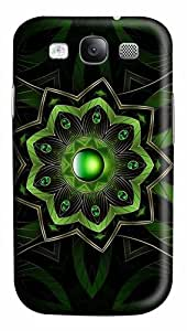 Green Floral Pendant Custom Polycarbonate Plastics Case for Samsung Galaxy S3 / S III/ I9300