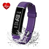 ANGINSTAR Fitness Tracker Watch, IP67 Waterproof Dustproof Smart Band with Heart Rate Monitor, Sleep Monitor Step Counter Activity Tracker For Women Men Kids for Android & iOS phones