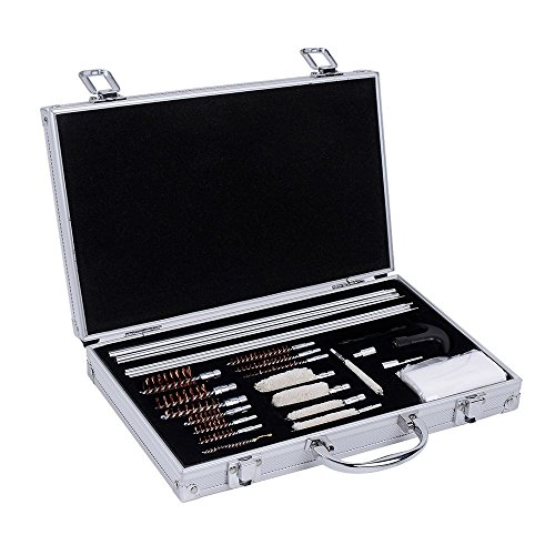 Ohuhu Gun Cleaning Kit, 28 Pieces Brushes and Jags for Universal Hand Gun, Rifle & Shot Gun with Carrying Case