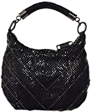Whiting and Davis Women's 'Crystal Chevron Little Black Bag'