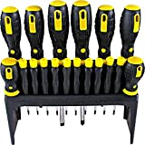 WSD 18pcs Screwdriver set Nut driver kit Standard Fluted Phillips, Cross, Star and Slotted,For household, site and repair use, Magnetic head and comfort grip help you operation more easily