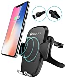 Wireless Charger Car Mount, iDudu Fast Wireless Charging Air Vent Car Mount Phone Holder for Samsung Galaxy S8 S8 Plus S7 S7 Edge S6 Edge plus Note 5, Standard Charger for iPhone X / 8 / 8 Plus