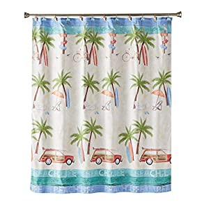51Iaf%2BtNC2L._SS300_ 200+ Beach Shower Curtains and Nautical Shower Curtains
