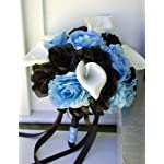 Bridal-Wedding-Bouquet-Baby-Blue-and-Black-Rose-with-White-Calla-Lily-and-Black-Ribbon