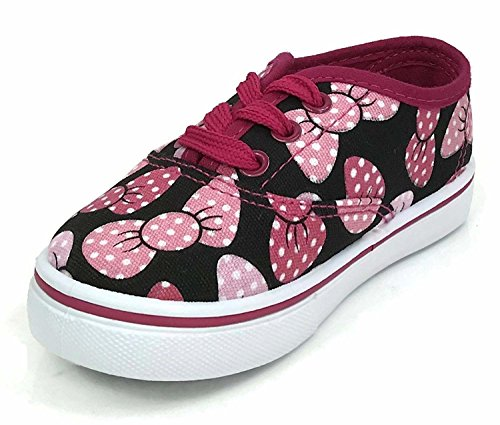 - DN Collection Girls Toddlers Kids Classic Lace-up Tennis Skate Sneakers Bows 6