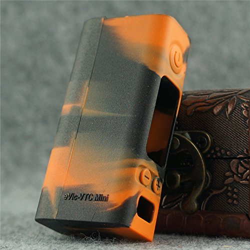 Silicone Case for eVic VTC MINI Sleeve Joyetech 60W Temp Control Box Mod Skin (orange/black) (Best Temp Control Mod)