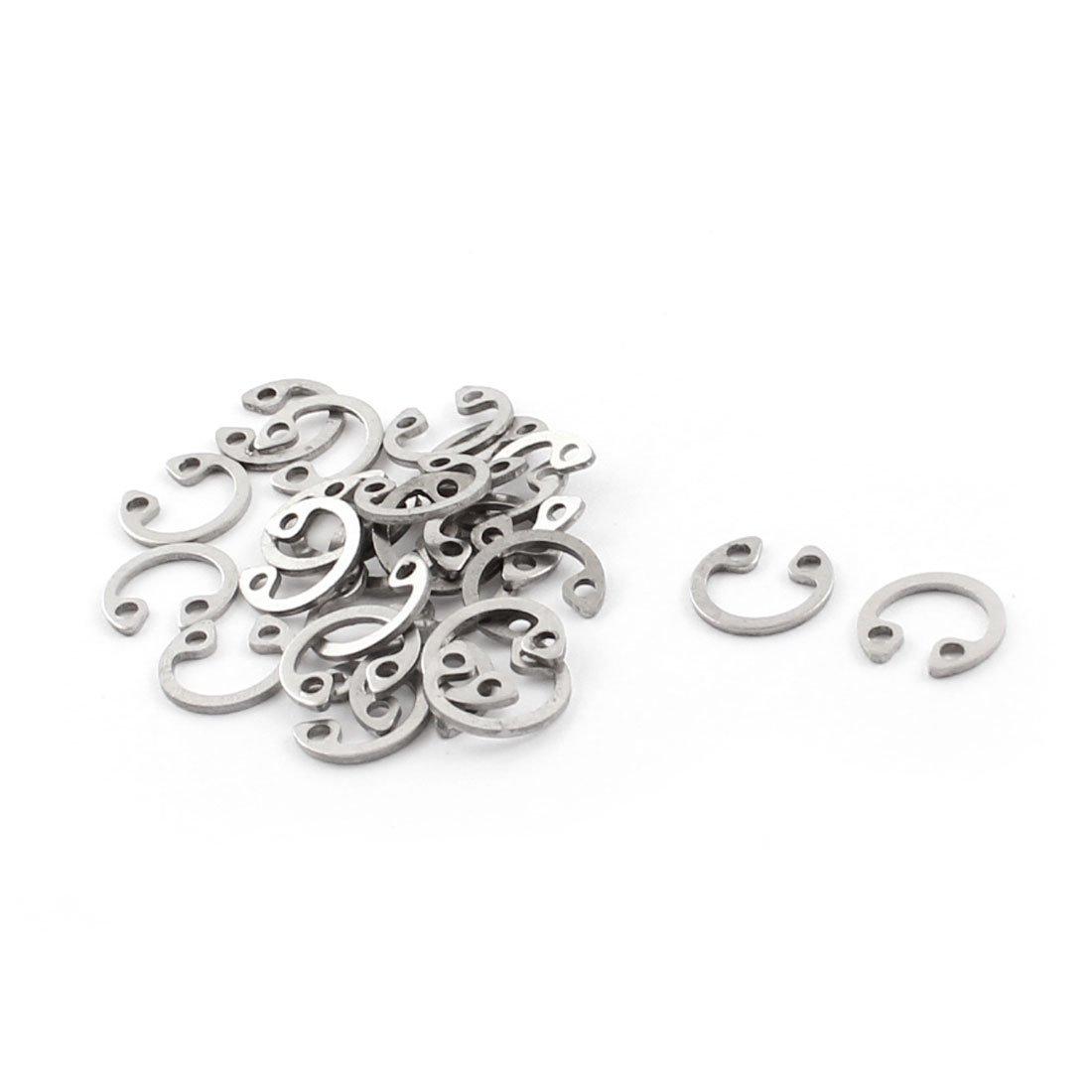 25pcs 304 Stainless Steel Internal Circlip Snap Ring 7mm Inner Dia