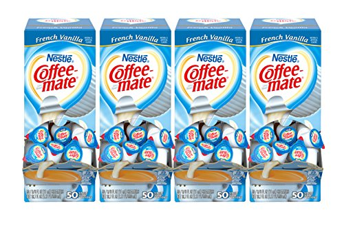 Creamer French Vanilla Flavor - Nestle Coffee-mate Coffee Creamer, French Vanilla, liquid creamer singles, Pack of 200