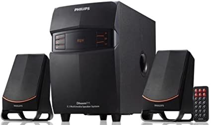 06c223a13 Philips MMS-2550F 94 2.1 Channel Multimedia Speakers System (Black ...
