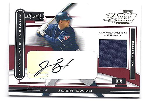 JOSH BARD 2003 Playoff Piece of the Game #47 AUTOGRAPH Game-Worn Jersey Card Cleveland Indians Baseball