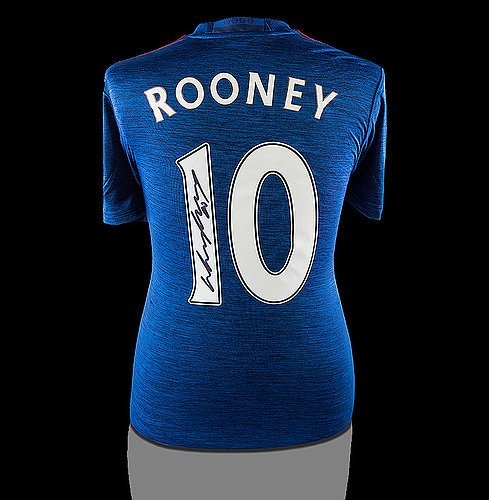 - Wayne Rooney Back Autographed Signed Manchester United 2016-17 Third Shirt - Certified Authentic Soccer Signature