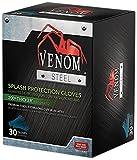 Medline VEN6025 Venom Steel Latex Gloves, Splash Protection, Blue (Pack of 480)