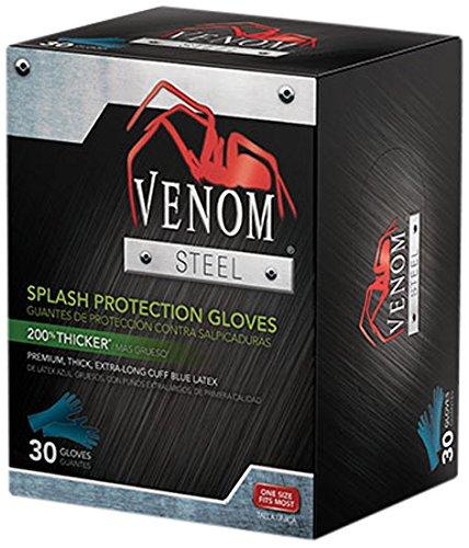 Medline VEN6025 Venom Steel Latex Gloves, Splash Protection, Blue (Pack of 480) by Medline (Image #1)