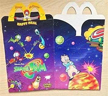 Mcdonalds Happy Meal Toy Looney Tunes Space Jam Box Only Empty