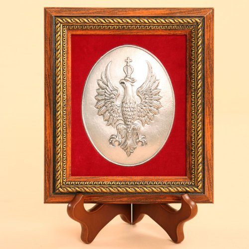 (Silver Plated Icon - 1918 Independence Crowned White Eagle)