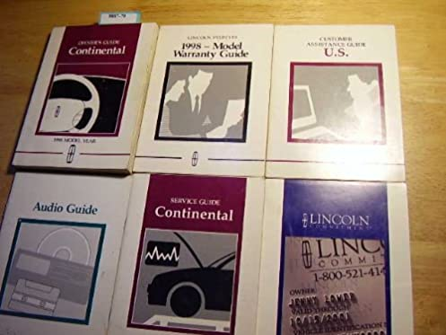 1998 lincoln continental owners manual lincoln amazon com books rh amazon com 1997 Lincoln Continental 1997 Lincoln Continental