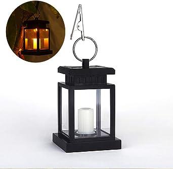 Docooler - Farol de vela LED resistente al agua con abrazadera, para jardín, patio, césped, decoración e iluminación con efecto de vela parpadeante: Amazon.es: Iluminación